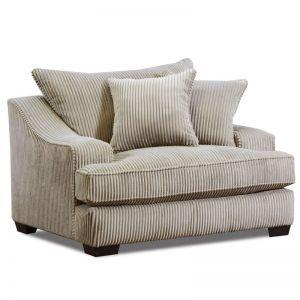 Alexa Beige Corduroy Chair And Half