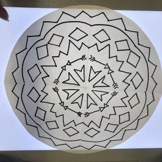 4th Grade Symmetrical Circles In 2020 Symmetrical Circle Crayola Markers