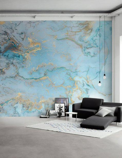 Wave Wallpaper Abstract Waves Wall Mural Nordic Art Wall Decor | Etsy