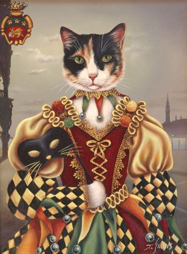 Gatto arlecchino | les chats dans l\'art | Pinterest | Petra