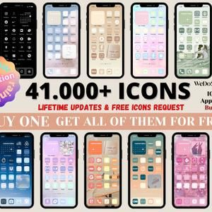 Indie Ios 14 Icons Pack Etsy App Icon Iphone Apps App Covers