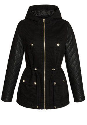 Tesco direct: F&F Faux Fur Trim Hooded Duffle Coat | Duffle