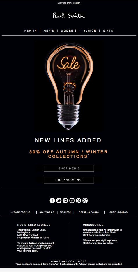 Sale- New Lines Added