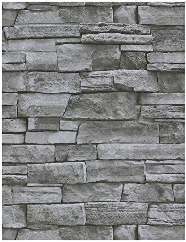 Heloho 17 71 X 118 Grey Stone Wallpaper Peel And Stick Wallpaper Stone Self Adhesive Wallpa In 2021 Grey Stone Wallpaper 3d Brick Wallpaper Stone Wallpaper