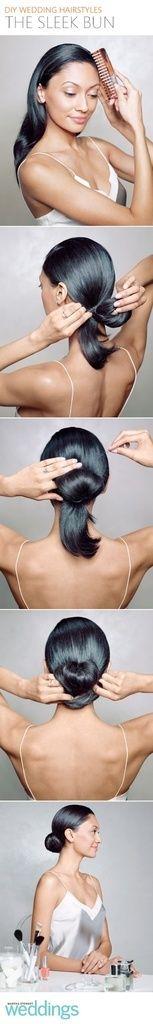 DIY Sleek Bun Hair tutorial