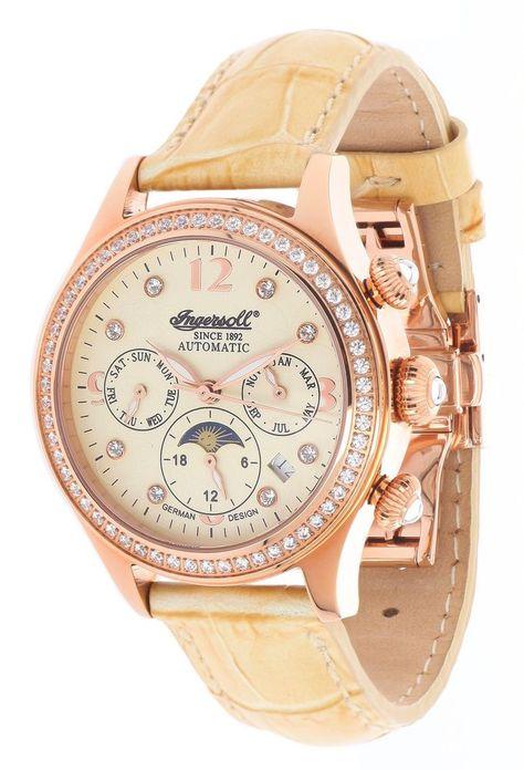 Ingersoll Damen Automatik Uhr Sacramento Creme IN2711RG in Uhren & Schmuck, Armband- & Taschenuhren, Armbanduhren | eBay