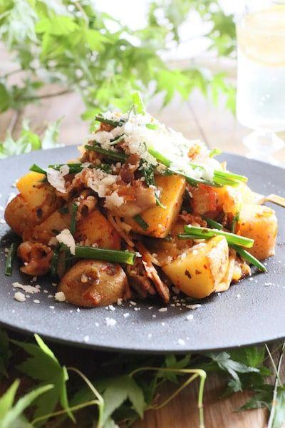 止まらない ピリッと美味しい じゃがキムチ By Mimi Nadia ナディア レシピサイト おいしいあの人のレシピ レシピ 2020 レシピ 健康 レシピ キムチ