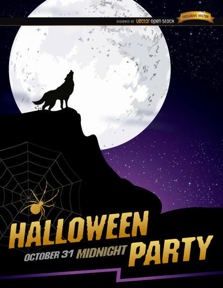 Halloween 2020 Promo Poster Wolf howl full moon Halloween poster #AD , #spon, #AFF, #full