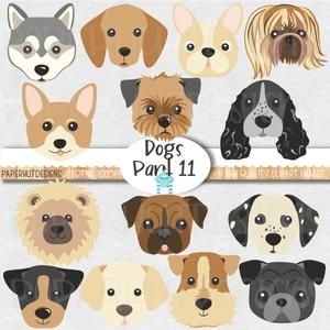 Cute Dog Clipart Eps Png Jpeg Pets Clipart Cute Animal Etsy
