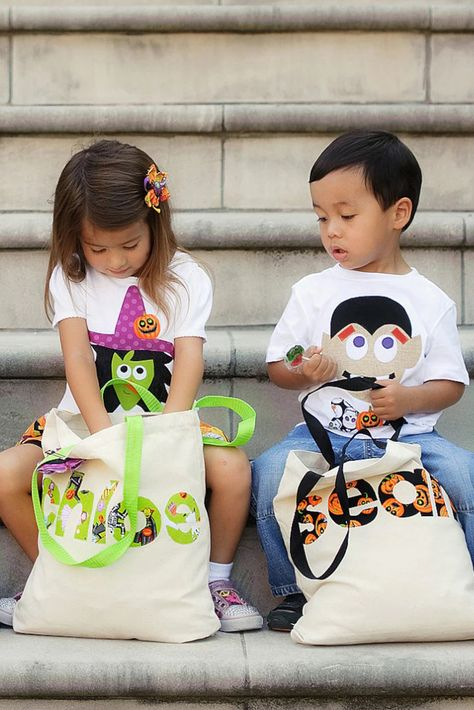 Trick or treat! Make this Halloween one to remember with a reusable personalized trick or treat tote bag. This durable and customized candy bag will last for years to come and make a memorable keepsake.