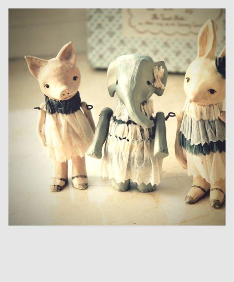 Frozen Charlottes . . . technically not bjd, but I love that rabbit head