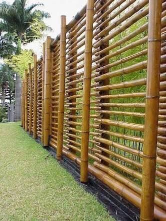Pin By Mamy Sunny On By Bamboo Bamboo Garden Fences Bamboo Fence Bamboo Garden