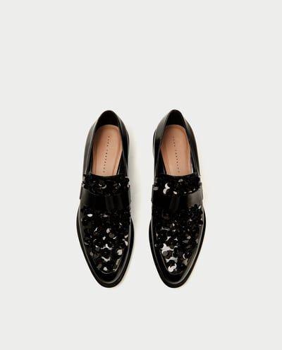 Zdjecie 4 Mokasyny Z Kwiatami Z Zara Loafers Shoes Accessories Sale