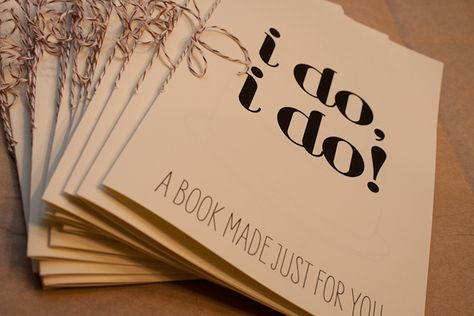 Activity book for the tiny wedding guests. Adorable.