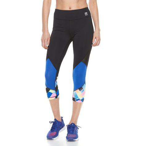 ff586e0aad Women s FILA SPORT® Mesh Inset Capri Leggings