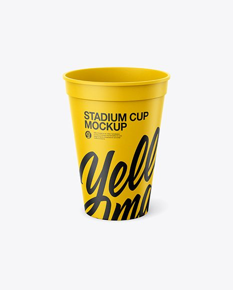 Paper Stadium Cup Mockup Front View High Angle Shot In Cup Bowl Mockups On Yellow Images Object Mockups Mockup Psd Mockup Free Psd Mockup