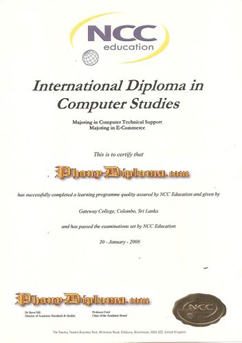 NCC Fake Malaysia College Diploma Sample from PhonyDiploma -http - sample graduation certificate