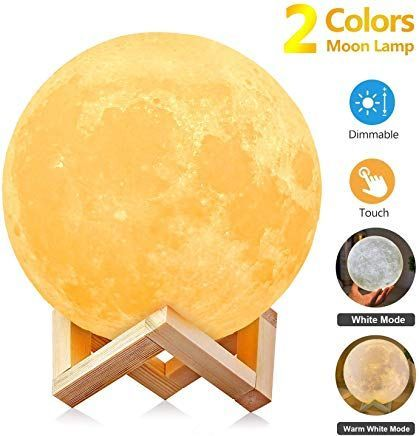 Agm Mond Lampe Nachttischlampe3d Mond Kunst Mondl Night Light Lamp Soft Lighting