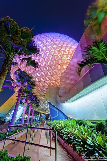I will always love how Spaceship Earth is lit up at night