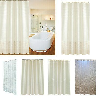 Details About Peva Waterproof Print Shower Curtain For Toilet Ornament Cover Block With Hooks In 2020 Printed Shower Curtain Shower Curtain Washroom Accessories