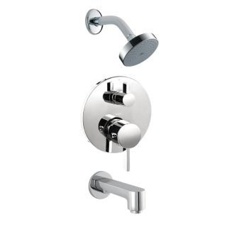 Hansgrohe Undefined Chrome S Tub And Shower Valve Trim With Thermostatic Volume Control Diverter Single Function Shower Head And Diverterless Tub Spout Shower Valve Hansgrohe Shower Tub