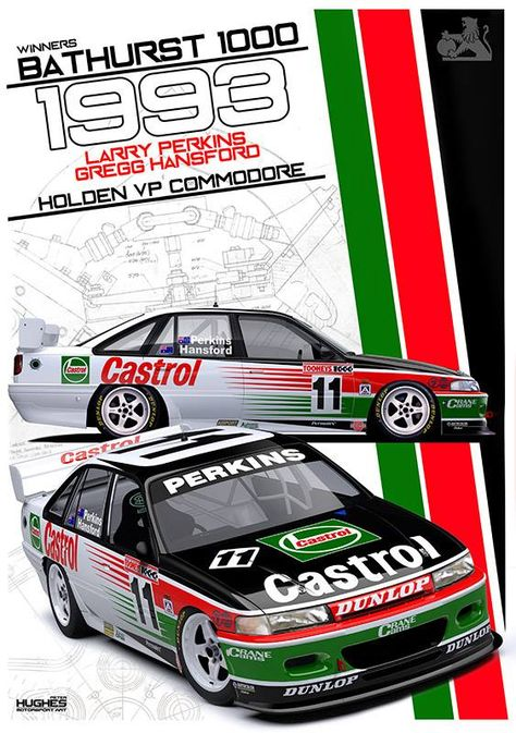 Print 116 1993 Bathurst Winner Bikeraceposter Super Cars Bathurst Bike Race Poster