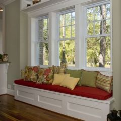 Tremendous Bench Seating For Windows On Wall Facing Mccleans House Machost Co Dining Chair Design Ideas Machostcouk