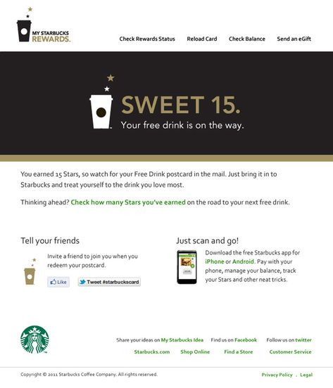 Rewards Emails Google Search Rewards Program Starbucks Rewards