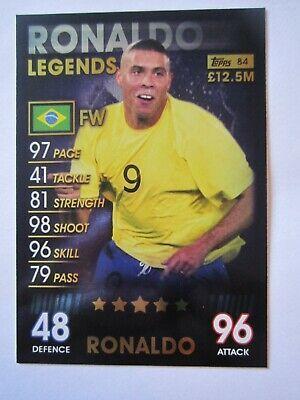 Sponsored Match Attax 101 Legend Foil Card Ronaldo Of Brazil In 2020 Ronaldo Match Attax Foil Cards