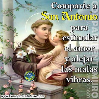 Comparteentumuro Oración A San Antonio De Padua Para Peticiones De Amor Difíciles Escribe Amen Oracion A San Antonio Antonio De Padua San Antonio De Padua
