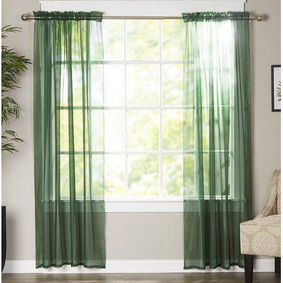 Viv Rae Solid Sheer Curtain Panels