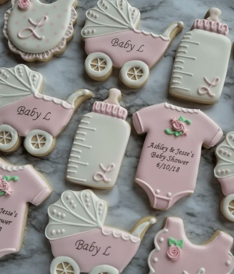 Faith Lane Confections creates custom decorated sugar cookies to sweeten any occasion in South Florida (Broward, Palm Beach, and Miami-Dade counties). Baby Shower Cupcake Cake, Baby Shower Cookies, Baby Shower Favors Girl, Baby Shower Niño, Girl Baby Shower Decorations, Baby Shower Winter, Baby Shower Balloons, Shower Cakes, Baby Shower Biscuits