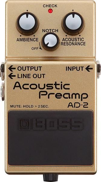 Boss Ad 2 Acoustic Preamp Acoustic Electric Guitar Effects Pedal Guitar Effects Pedals Acoustic Guitar Amp Guitar Effects