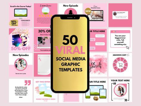 50 Viral Social Media Instagram Templates