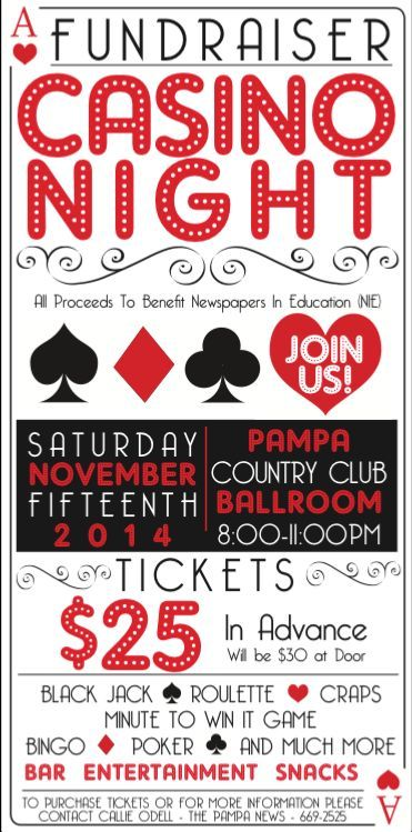 Casino Night Fundraiser Ticket  Poster Design On Behance  Sewing