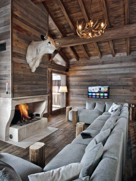 Top 60 Best Wood Ceiling Ideas Wooden Interior Designs Rustic Family Room Cabin Room Design Best Modern House Design