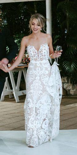 ab8ed014af 51 Beach Wedding Dresses Perfect For Destination Weddings   Goddess ...