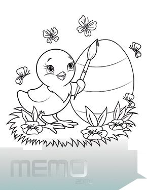 15 03 2020 Ausmalbild Osterkueken Bemalt Ein Ei Zum Ausmalen Ausmalbilder Malvorlagen In 2020 Easter Coloring Pages Easter Colouring Easter Bunny Colouring