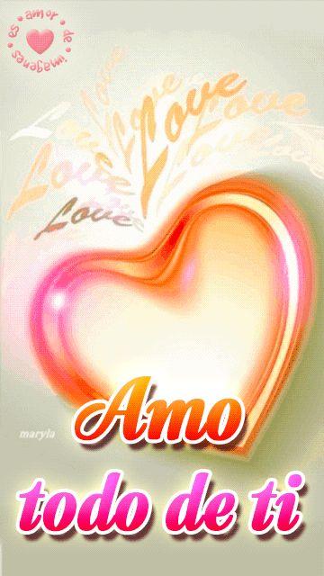 imagen con movimiento de corazón con frase corta de amor