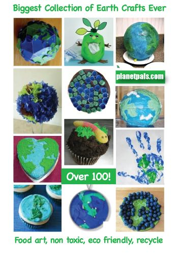 Happy Earthday-There is still time to do Earthday Crafts, and Foods. Ideas Galore. A world of fun! #moms #dads #ece #teachers