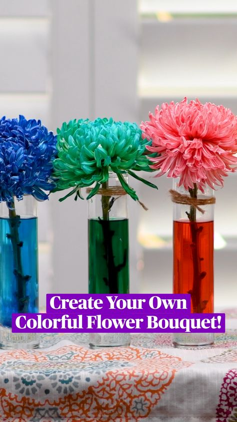 Create Your Own Colorful Flower Bouquet!
