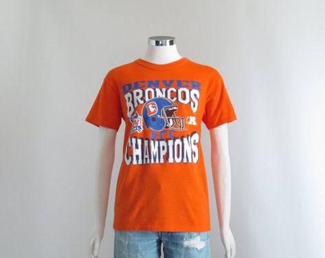 Denver Bronchos Shirt, Womens 80s