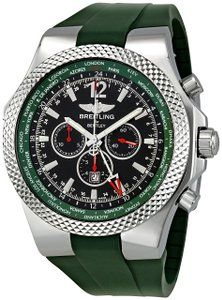 Breitling Men's A47362S4-B919 Bentley GMT Chronograph Watch Watches men It display with analog type and using automatic self wind for movement. This specific wrist watch get strap length follow men...