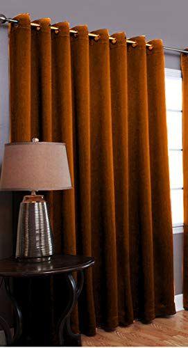 FABRICART Vintage Rust Color  100% Cotton Velvet Curtain Drape   Eyelet    Grommet   Thick & Durable   fine Texture…   Velvet curtains, Drapes curtains,  Cotton velvet