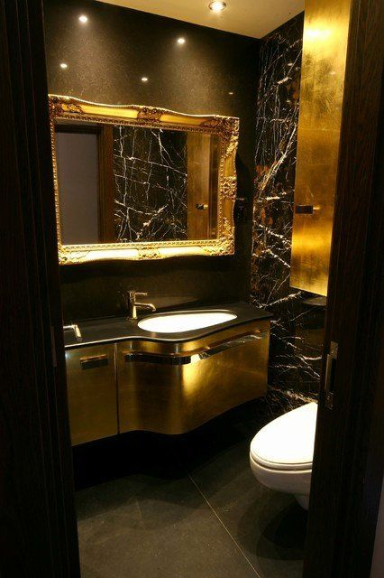 24 Black And Gold Bathroom Ideas In 2020 With Images Gold