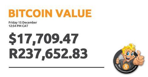 Bitcoin value Friday 15 December 2017 | Bitcoin value, Bitcoin