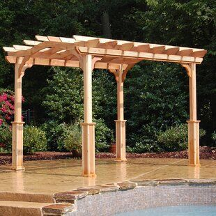 Heritagepatios 10 Ft D Aluminum Pergola Wayfair In 2020 Pergola Outdoor Pergola Backyard Pergola