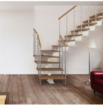 Escalier Gain De Place Zen Arke Special Petits Espaces Escalier En Kit Escalier En Colimacon Escalier
