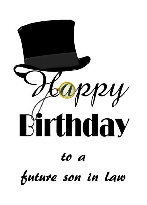 Birthday For Future Son In Law Top Hat And Monocle Card Ad Sponsored Son Law Birthday Future Son In Law Sons Psd Template Website
