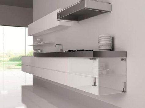 Zawieszka do dolnych szafek wiszących z szufladami Kuchnia - lackiertes glas küchenrückwand